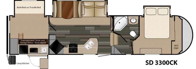 Sundance 3300CK Floorplan Image