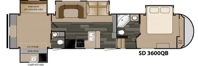 Sundance 3600QB Floorplan Image