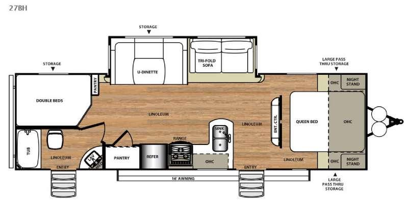 Wildwood Heritage Glen Hyper-Lyte 27BH Floorplan
