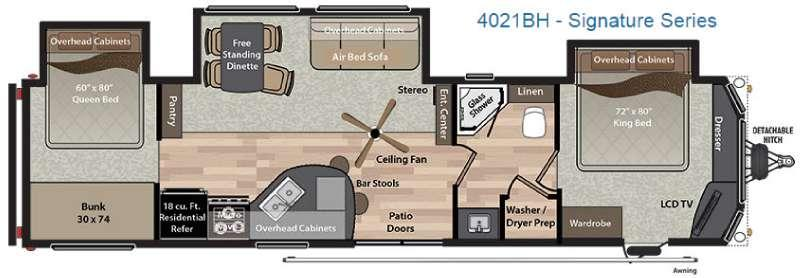 Residence Signature Series 4021BH Floorplan Image