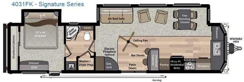 Residence Signature Series 4031FK Floorplan Image