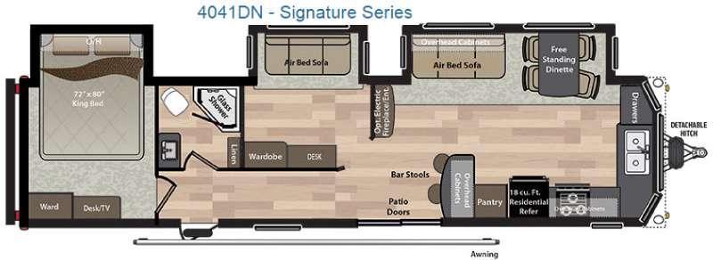 Residence Signature Series 4041DN Floorplan Image