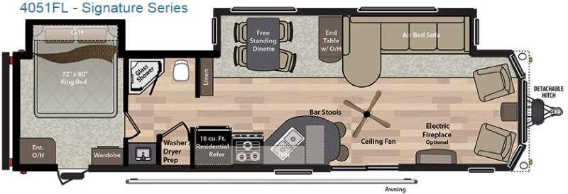 Residence Signature Series 4051FL Floorplan Image