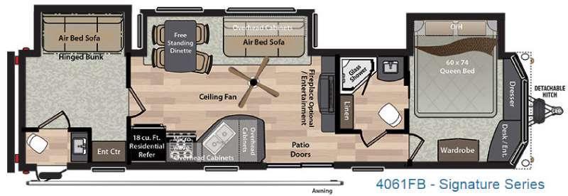 Residence Signature Series 4061FB Floorplan Image