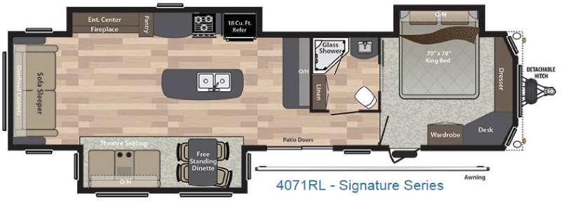 Residence Signature Series 4071RL Floorplan Image