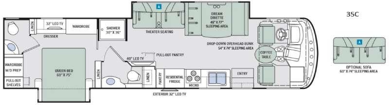 Hurricane 35C Floorplan Image