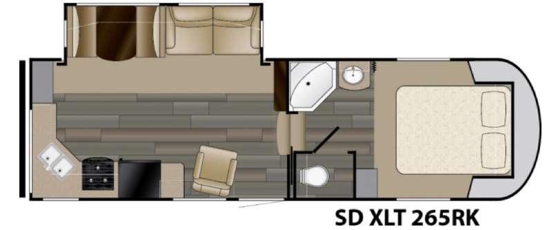 Sundance XLT 265RK Floorplan Image