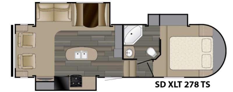 Sundance XLT 278TS Floorplan Image