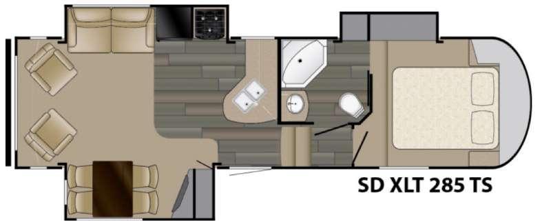 Sundance XLT 285TS Floorplan Image