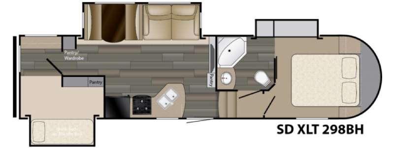 Sundance XLT 298BH Floorplan Image
