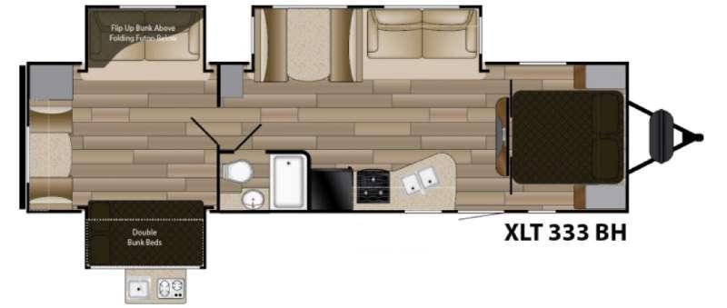 Sundance XLT 333BH Floorplan Image