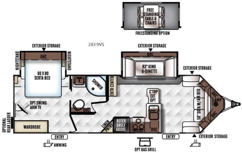 Rockwood Ultra V 2819VS Floorplan Image