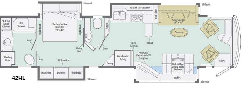 Grand Tour 42HL Floorplan Image