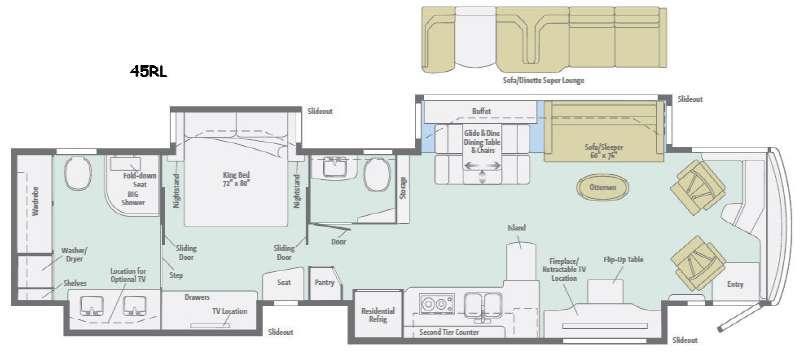 Grand Tour 45RL Floorplan Image