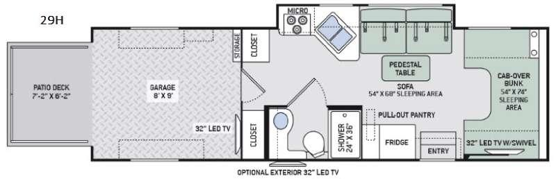 Outlaw Class C 29H Floorplan Image