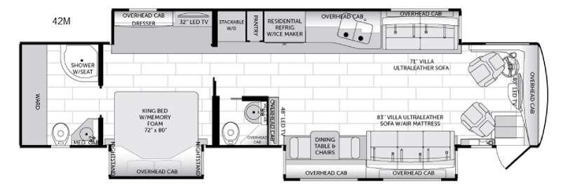 American Dream 42M Floorplan Image