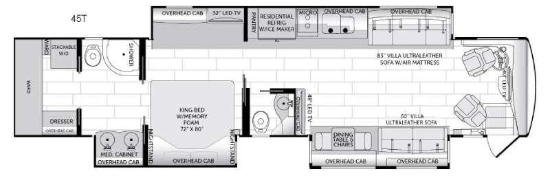 American Dream 45T Floorplan Image