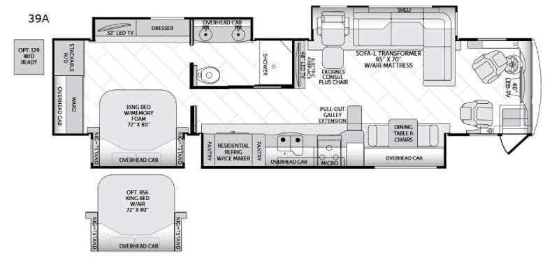 American Allegiance 39A Floorplan Image