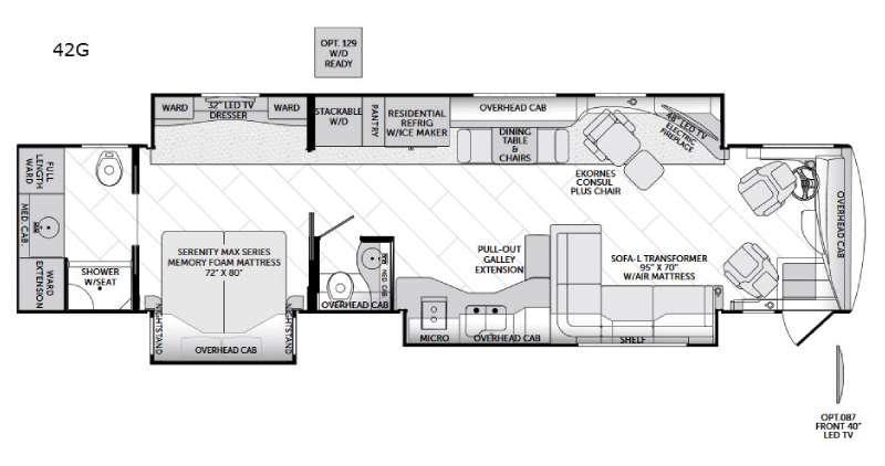 American Allegiance 42G Floorplan Image