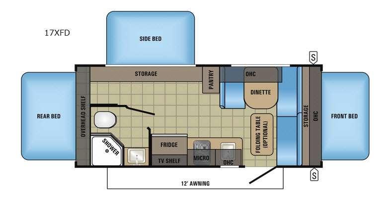 Jay Feather 7 17XFD Floorplan Image