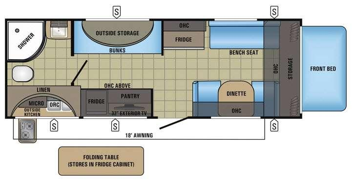 Jay Feather 7 20XTG Floorplan Image