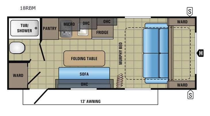 Jay Feather 7 18RBM Floorplan Image