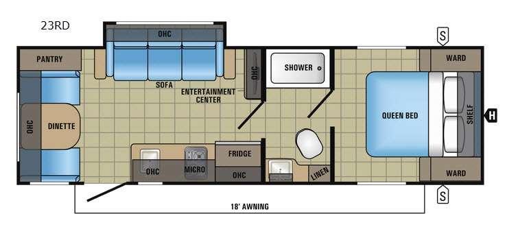 Jay Feather 7 23RD Floorplan Image