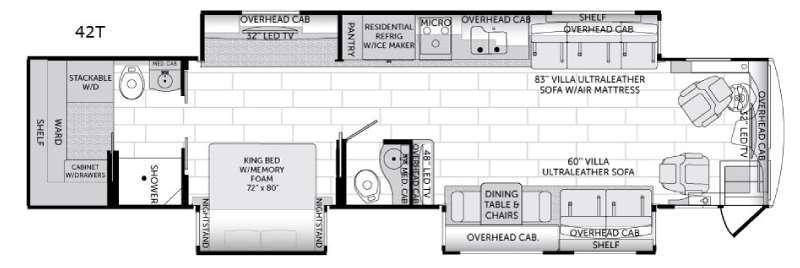 American Revolution 42T Floorplan Image