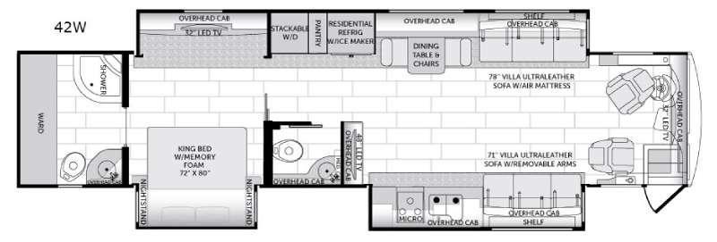 American Revolution 42W Floorplan Image