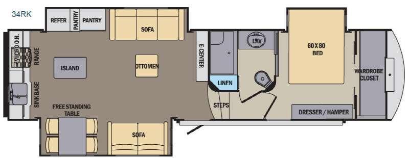 Phoenix 34RK Floorplan Image