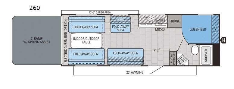 Octane Super Lite 260 Floorplan Image