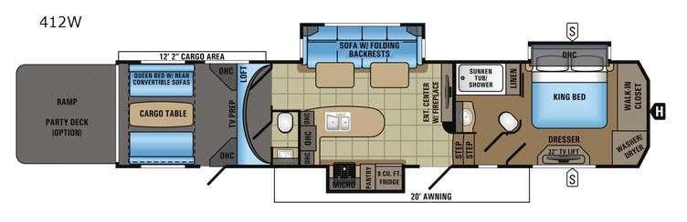 Seismic Wave 412W Floorplan Image
