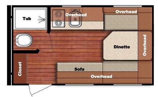 Kingsport Lite 14RBC Floorplan Image