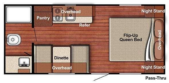 Kingsport Lite 188RB Floorplan Image