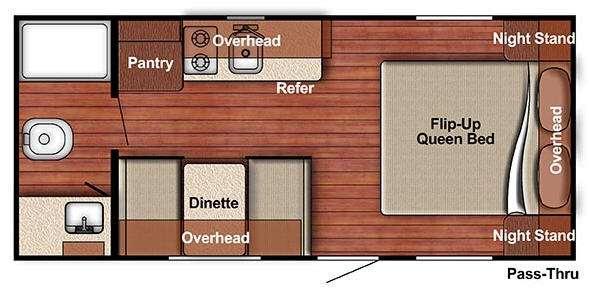 Kingsport Lite 188RB Floorplan Image