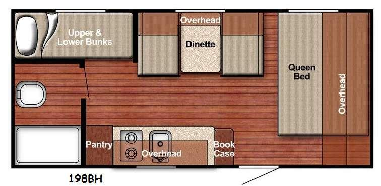 Kingsport Lite 198BH Floorplan Image