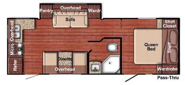Kingsport Lite 238RK Floorplan Image