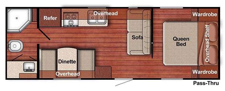 Kingsport Lite 241RB Floorplan Image