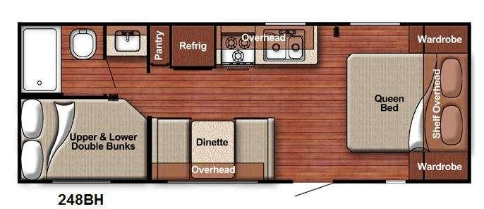 Floorplan - 2017 Gulf Stream RV Kingsport Lite 248BH