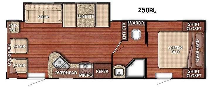 Floorplan - 2017 Gulf Stream RV Kingsport Lite 250RL