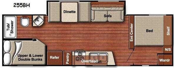 Kingsport Lite 255BH Floorplan Image