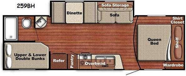 Kingsport Lite 259BH Floorplan Image