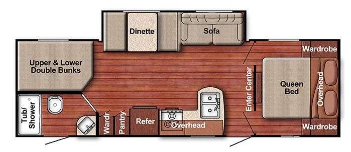 Kingsport Lite 268BH Floorplan