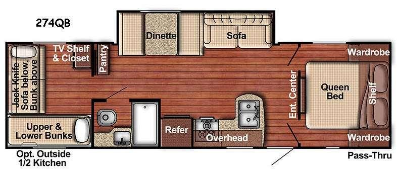 Floorplan - 2017 Gulf Stream RV Kingsport Lite 274QB