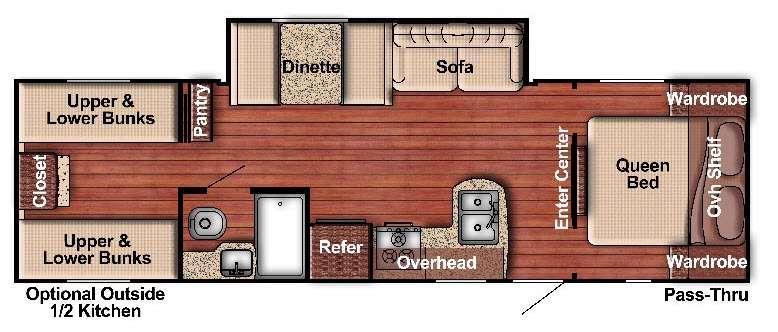 Kingsport Lite 279BH Floorplan Image