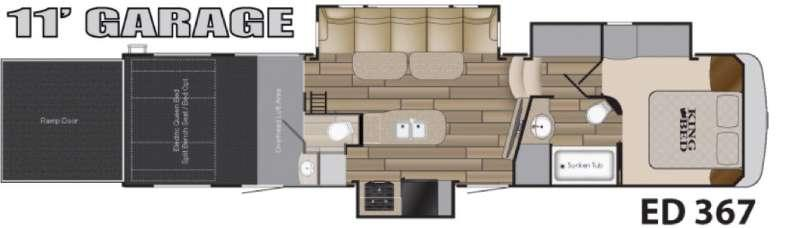 Floorplan - 2017 Heartland Edge 367