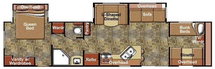 Kingsport 380 FRS SE Series Floorplan Image
