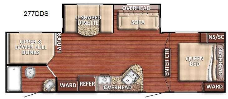 Floorplan - 2017 Gulf Stream RV Kingsport 277 DDS