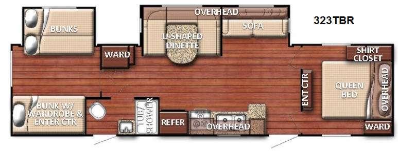 Kingsport 323 TBR Floorplan Image