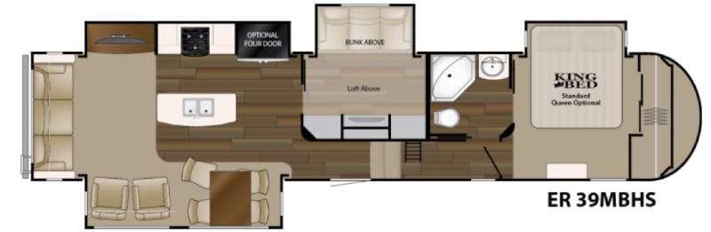 Floorplan - 2017 Heartland ElkRidge 39MBHS